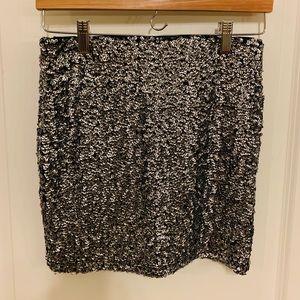 H&M Sequined Mini Skirt